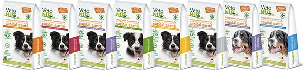 Paquets de croquettes VetoNUT pour chien